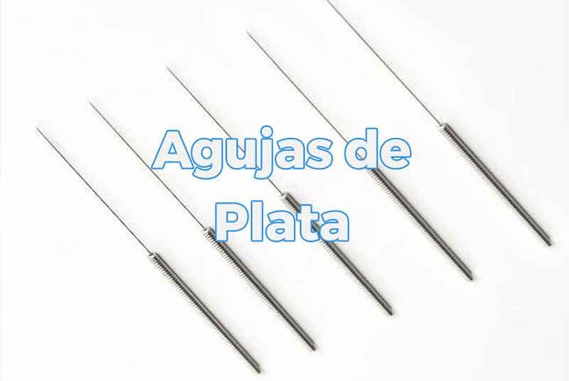 Agujas de plata para acupuntura