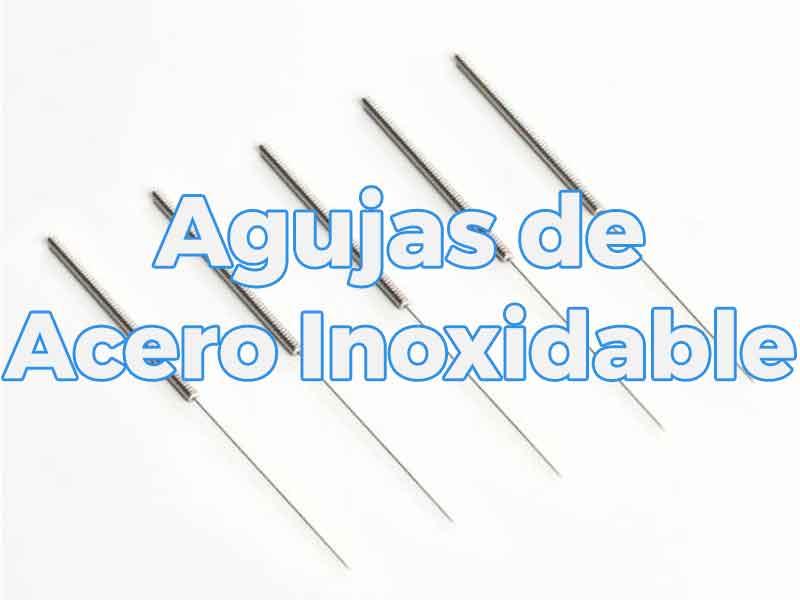Agujas de acero inoxidable para acupuntura