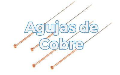 Agujas de cobre para acupuntura