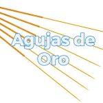 Agujas de oro para acupuntura